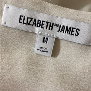 Elizabeth and James white top size M